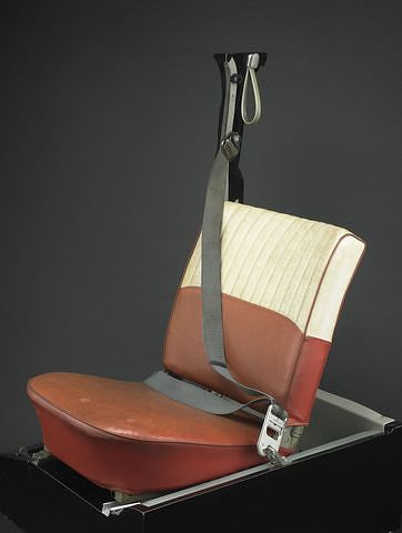 1961 Volvo seat with three-point seat belt