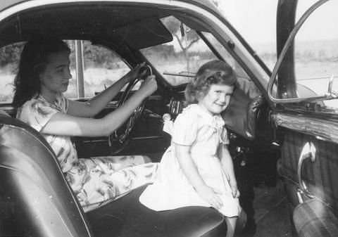 Custom dashboard pad installed in Dr. Claire L. Straith's personal car in the late 1940s