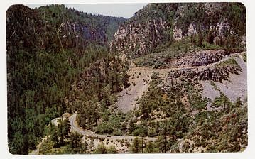 Postcard of Oak Creek Canyon, Arizona