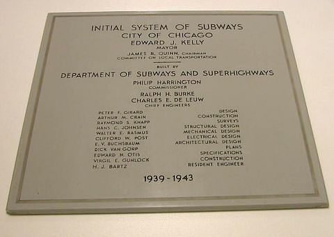 Subway Station Dedication Plaque, 1943