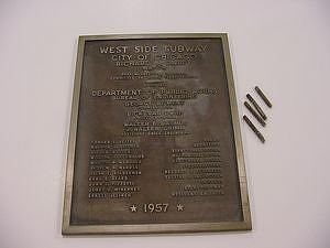 West Side Subway Dedication Plaque, 1957