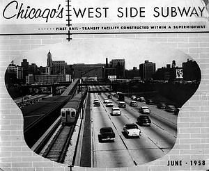 Chicago's West Side Subway: First Rail-Transit Facility Constructed Within A Superhighway, June 1958