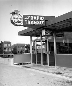 CTA's Damen Avenue Transit Station, 1958