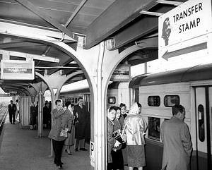 CTA's Pulaski Avenue Transit Station, 1958