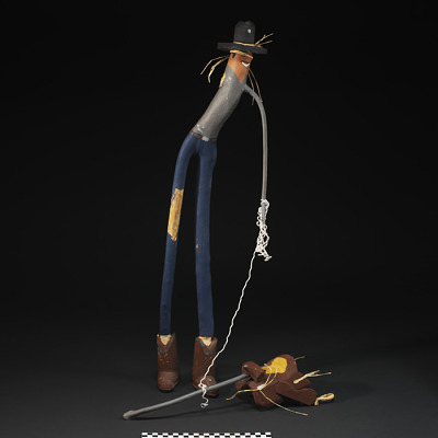 Stick Figure Cowboy