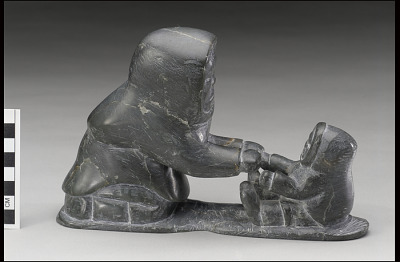 Kneeling Woman and Child