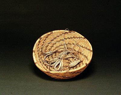 Basket and material for basketmaking