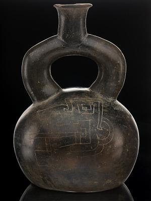 Stirrup-handled bottle