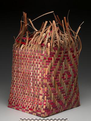Pieced Treaty: Spider's Web Treaty Basket