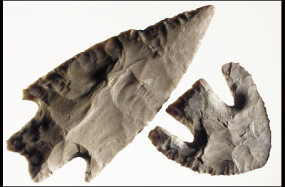 Pedernales and Calf Creek spear points