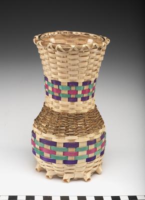 Basket-covered vase