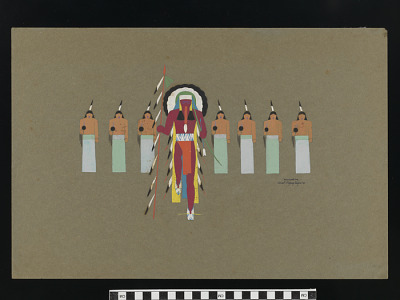 The Lone Indian and the Chanters, from the Animal Dance, Cheyenne