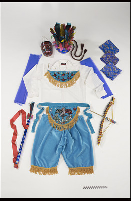 Mecos Dance mask and outfit for the festival of St. John