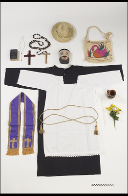 Priest mask and outfit for the festival of St. John