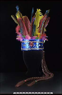 Headdress for Mecos Dance outfit for the festival of St. John