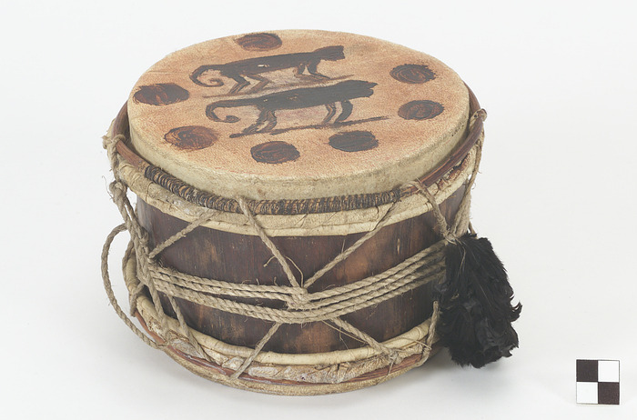 Image 1 for Drum with monkey design