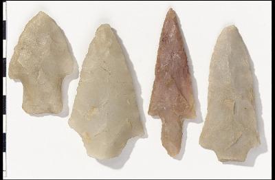 Burkett, Dickson, and Carrolton spearpoints