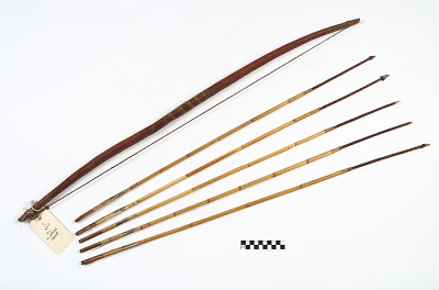 Bow, arrow, and quiver