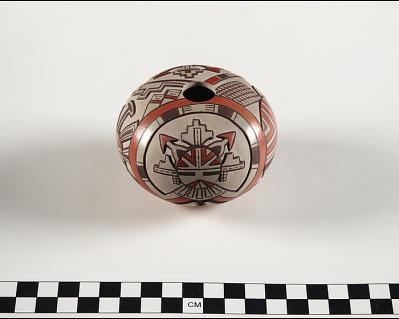 Seed jar with Shalako design