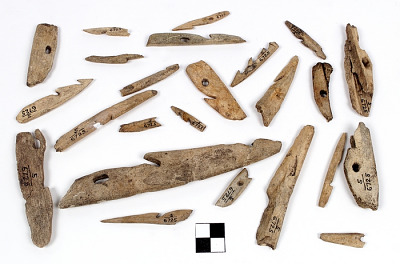 Harpoon heads and fragments
