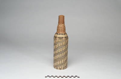 Basket-covered bottle