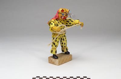 Figure representing a masked jaguar dancer