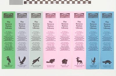 Bookmark with clan symbols