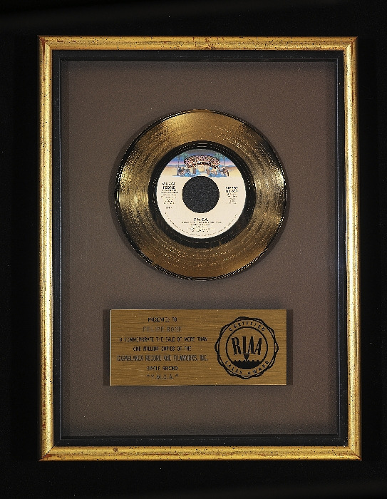 """Image 1 for Casablanca gold record for the Village People's """"Y.M.C.A."""""""