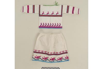 Girl's skirt and blouse