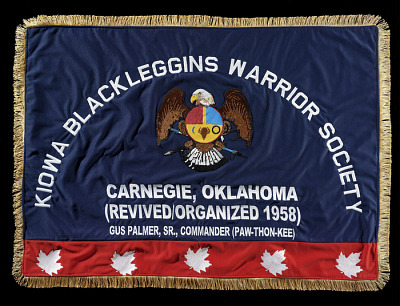 Ton-kon-gah (Black Leggings Warrior Society) flag