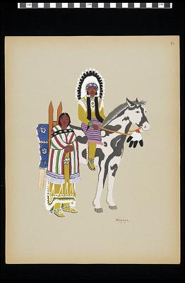 Kiowa warrior and wife (Plate 16)