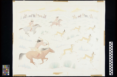Navajo Antelope Hunt by Relay Ponies