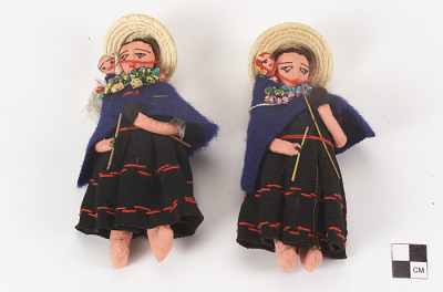 Female doll with baby
