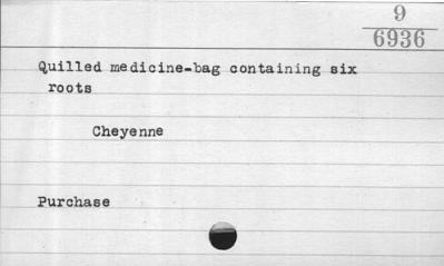 Medicine bag and contents