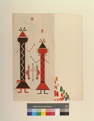 Textile design painting