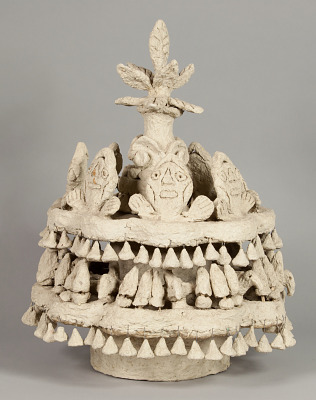 Paper Mache Statue: Tree with People