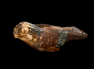 images for Falcon-Shaped Wooden Coffin, With Falcon Mummy-thumbnail 1