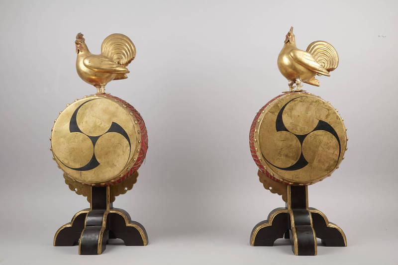 """Image 1 for A Pair Of Temple Drums """"Kagura Toiko"""" (1 Pr.)"""