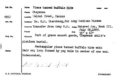 Piece Tanned Buffalo Hide
