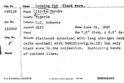 Cooking Pot Black Ware