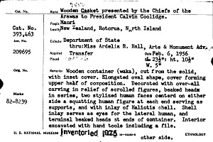images for Wooden Treasure Box Presented To Calvin Coolidge By Arawa Chiefs-thumbnail 4
