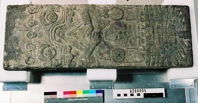 Stone sculpture of water goddess, Chalchiuhtlicue