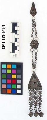 Triangular pendant with chain