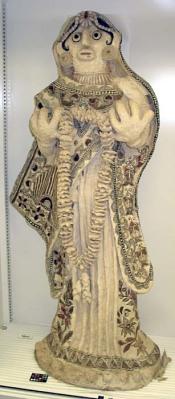 Painted Paper Mache Statue: