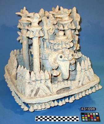Paper Mache Statue: Elephant and Rider