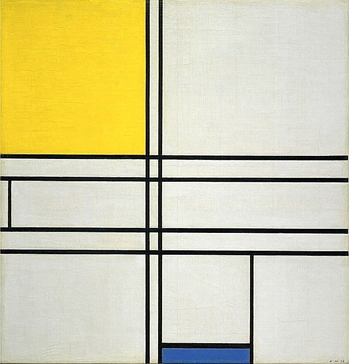 images for Composition with Blue and Yellow (Composition Bleu-Jaune)