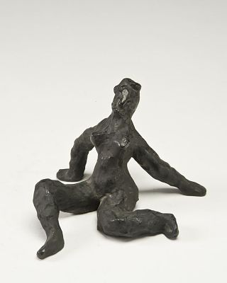 Nude Seated on Her Hands