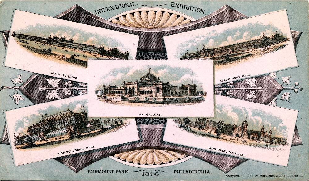 Advertising card from the Philadelphia Centennial Exposition, 1876