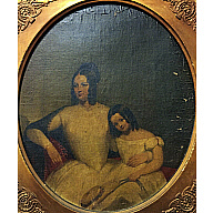 Portrait of Jane Cuyler Patterson and Daughter, Eleanor Cuyler Patterson Ellicott