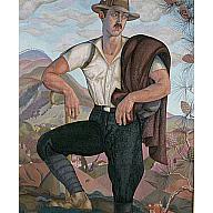 Campagnolo (autorretrato como campesino italiano)